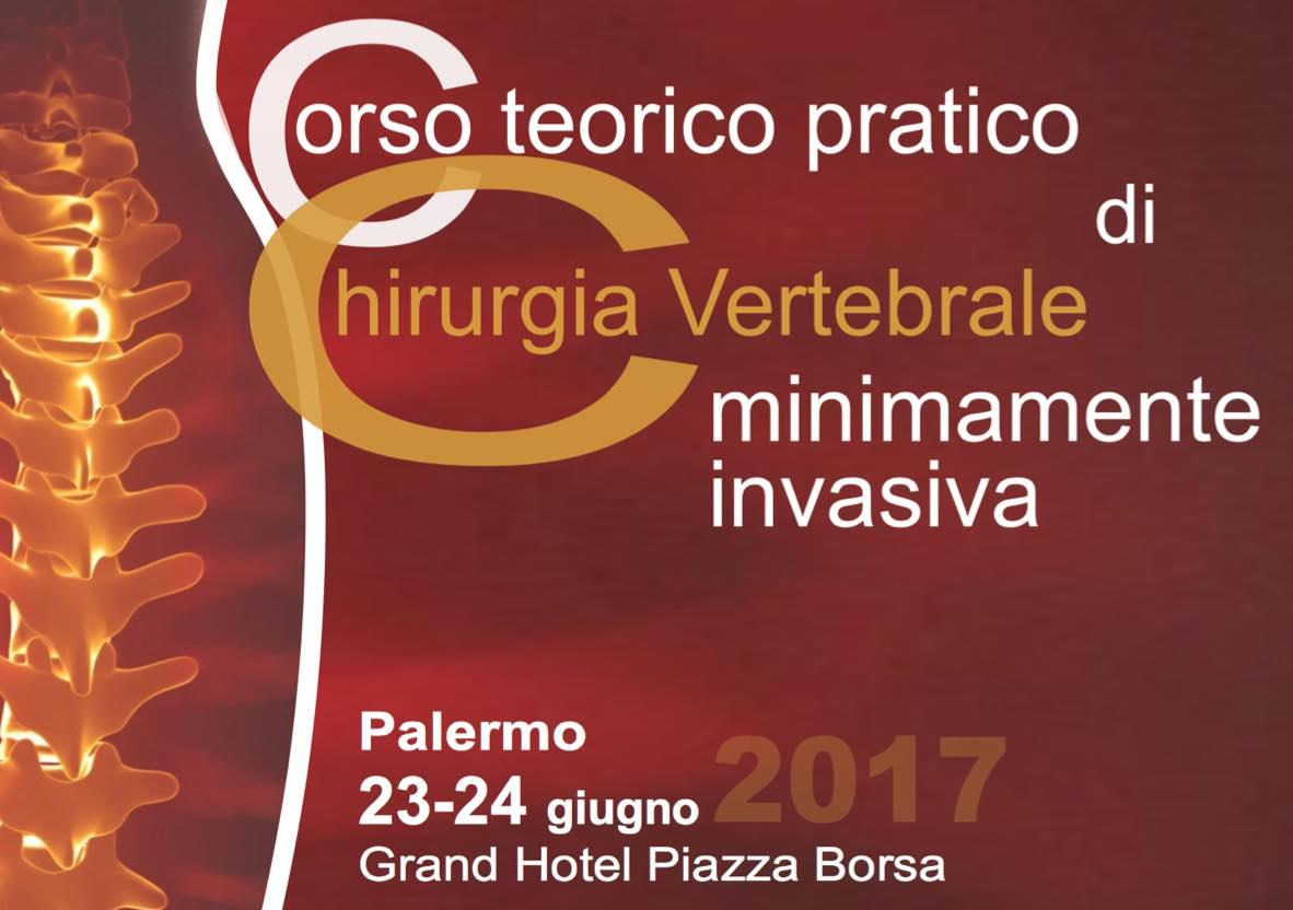 Corso teorico pratico di chirurgia vertebrale Palermo 2017